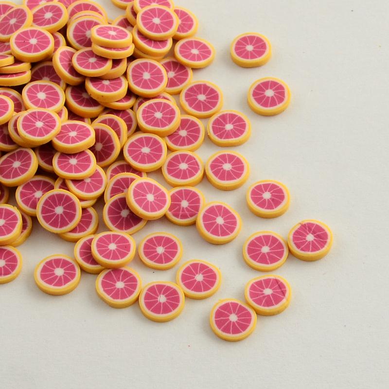 Handmade Polymer Clay Nail Art Decoration Accessories, Fruit, DarkOrange, 4~6x5~6x0.2~1mm