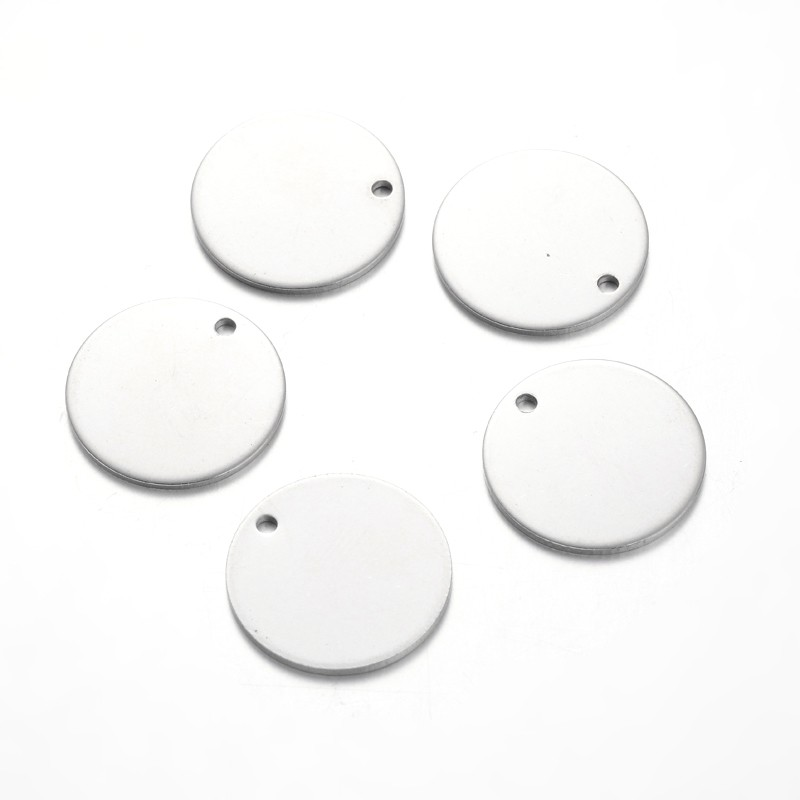 Flat Round Stainless Steel Blank Stapmping Tag Pendants UK-STAS-L166-08-1 Flat Round Stainless Steel Blank Stapmping Tag Pendants UK-STAS-L166-08-2 SHARE WITH: Flat Round Stainless Steel Blank Stapmping Tag Pendants, Stainless Steel Color, 20x1mm, Hole: 1.5mm