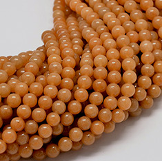 Natural Red Aventurine Stone Round Bead Strands, 6mm, Hole: 0.8~1mm; about 62pcs/strand, 15