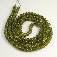 Crackle Glass Beads Strands, Round, Sold by Strands, Olive, 8mm, Hole: 2mm; about 105pcs/strand, 31 (UK-GGC8mmY-A36-K)