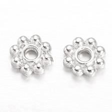 Flower Alloy Spacer Beads