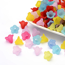 Mixed Color Acrylic Flower Beads